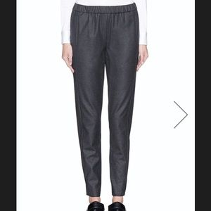 Theory Gray Theorene Wool Pant Elastic Waistband
